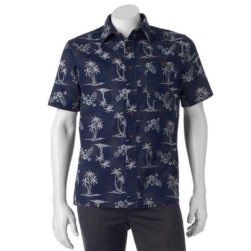 Men's Croft & Barrow ® Crosshatch Woven Button-Down Shirt