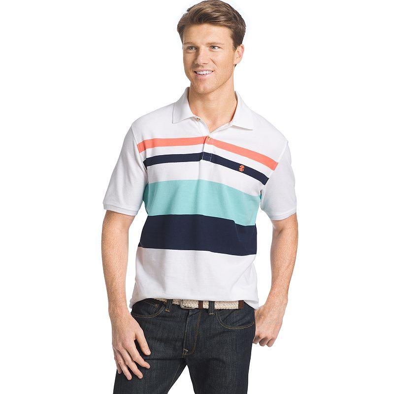 Men's IZOD Striped Pique Polo
