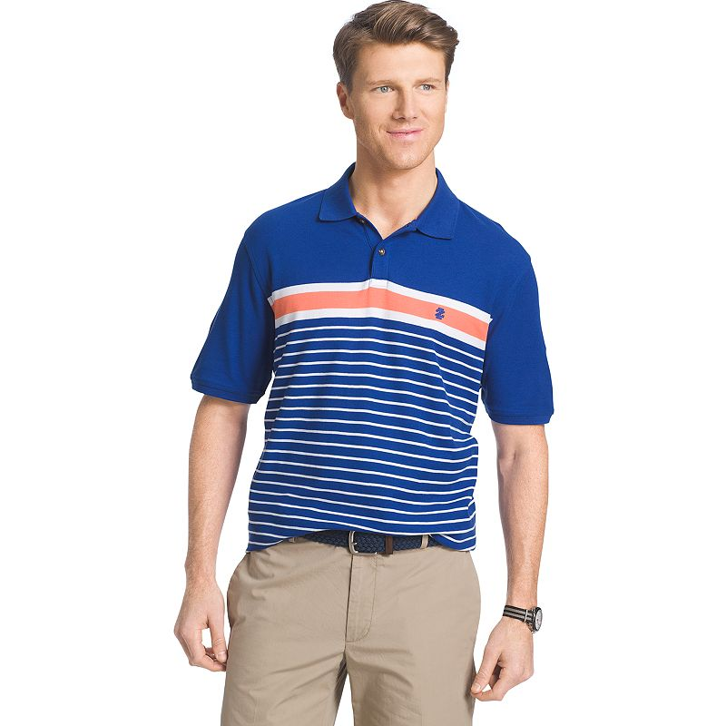 Men's IZOD Classic-Fit Striped Pique Polo