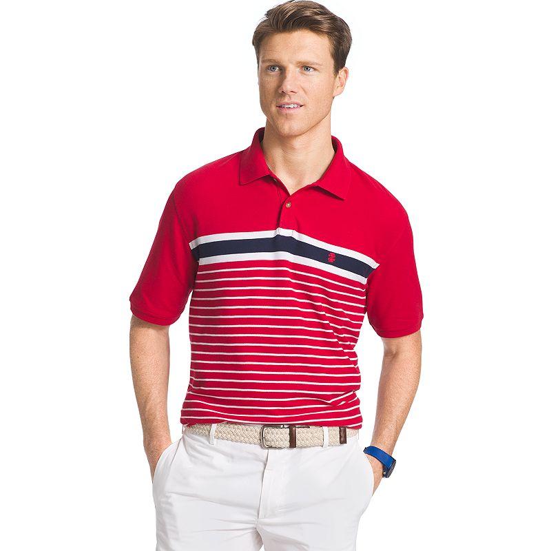 Men's IZOD Classic-Fit Striped Pique Polo
