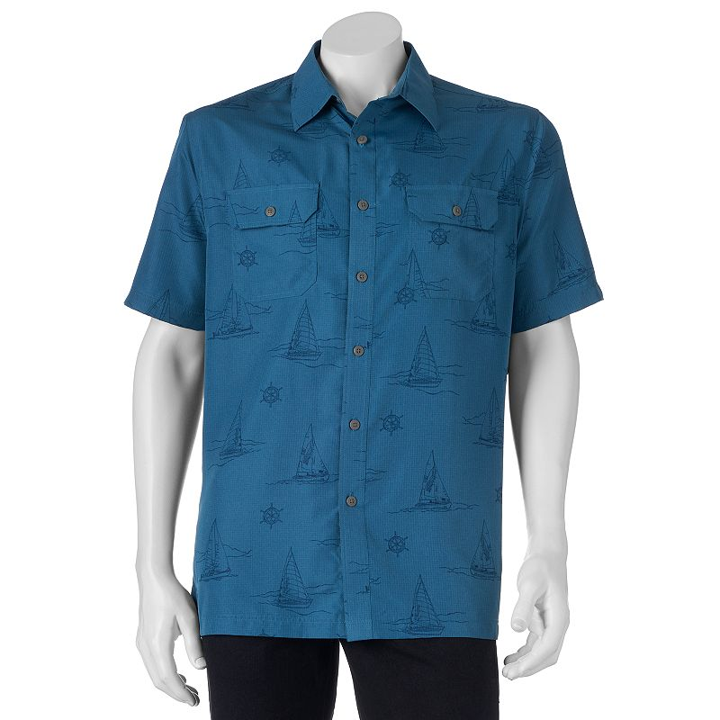 Big & Tall Croft & Barrow® Nautical Quick-Dry Outdoor Button-Down Shirt