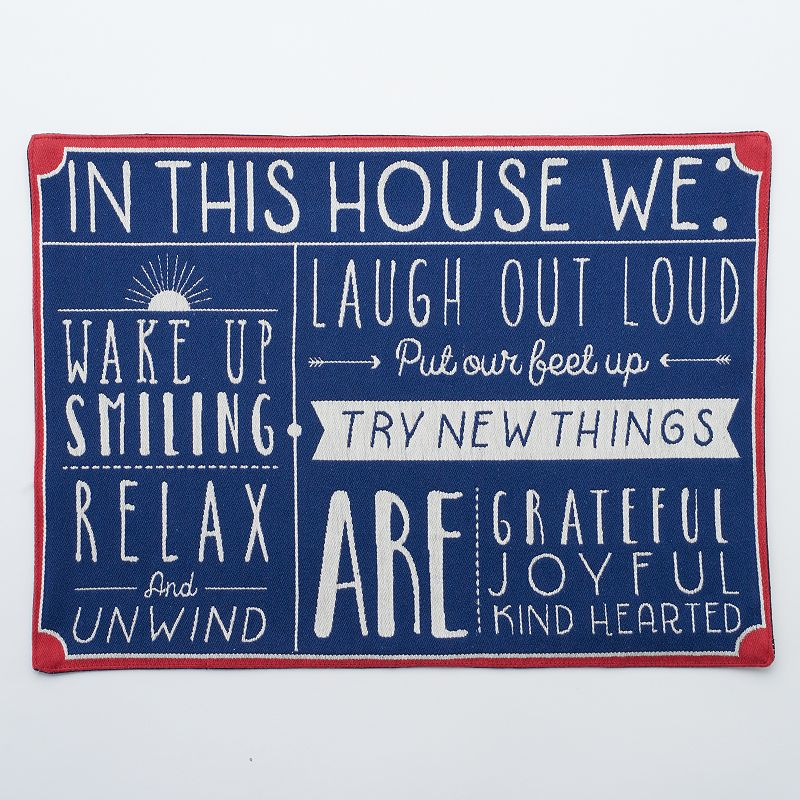 Celebrate Americana Together In This House Placemat