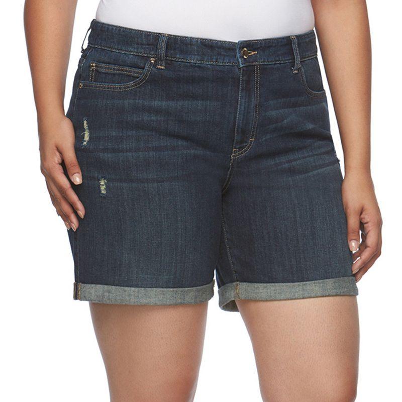 Plus Size Jennifer Lopez Boyfriend Shorts