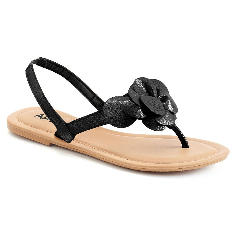 Apt. 9® Women's Metallic Floral Sandals