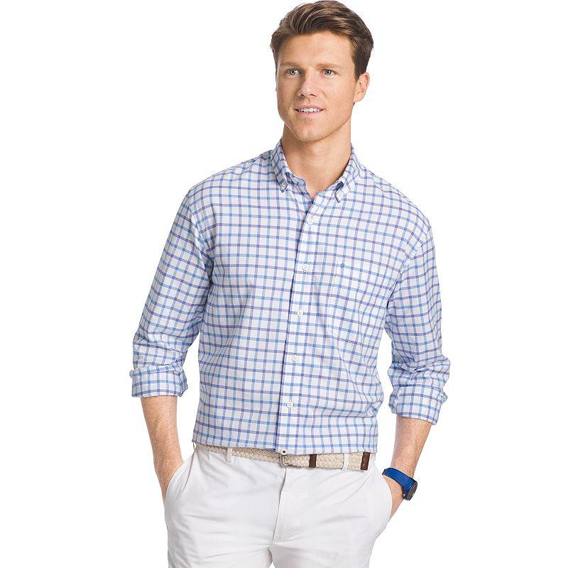Men's IZOD Classic-Fit Plaid Button-Down Shirt