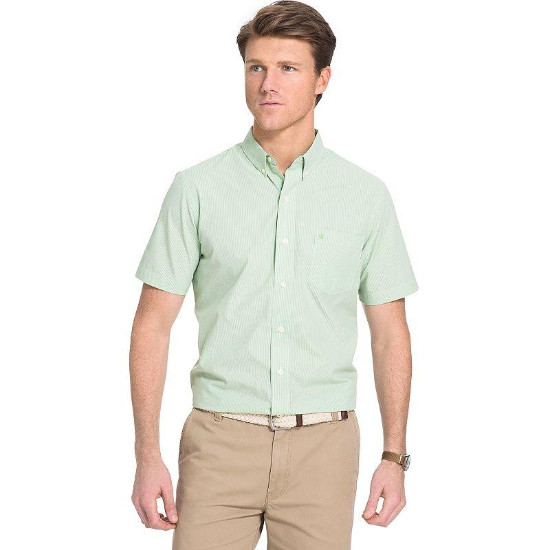 Men's IZOD Classic-Fit Striped No-Iron Button-Down Shirt
