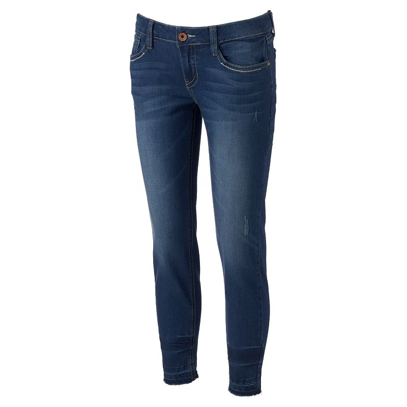 Juniors' Hydraulic Mia Slouchy Released Hem Jeans