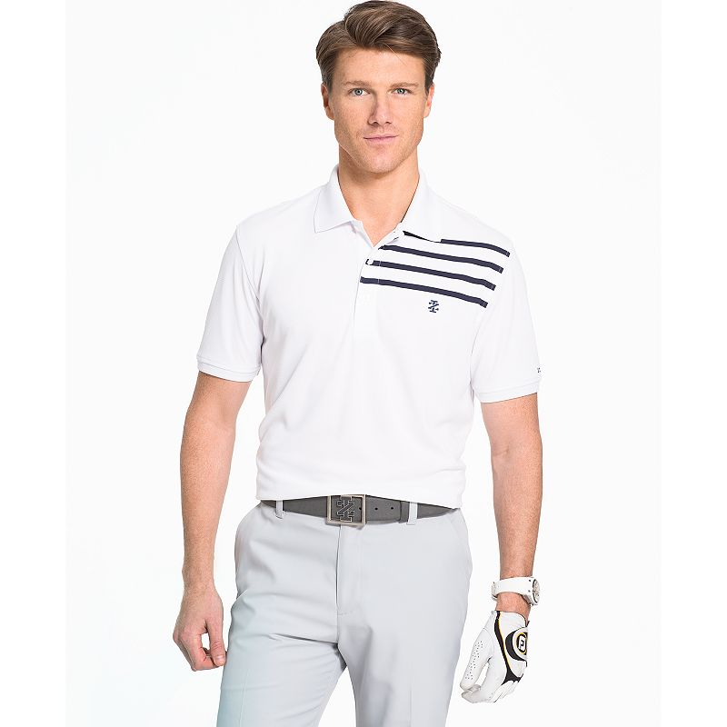 Men's IZOD Classic-Fit Chest-Striped Performance Golf Polo