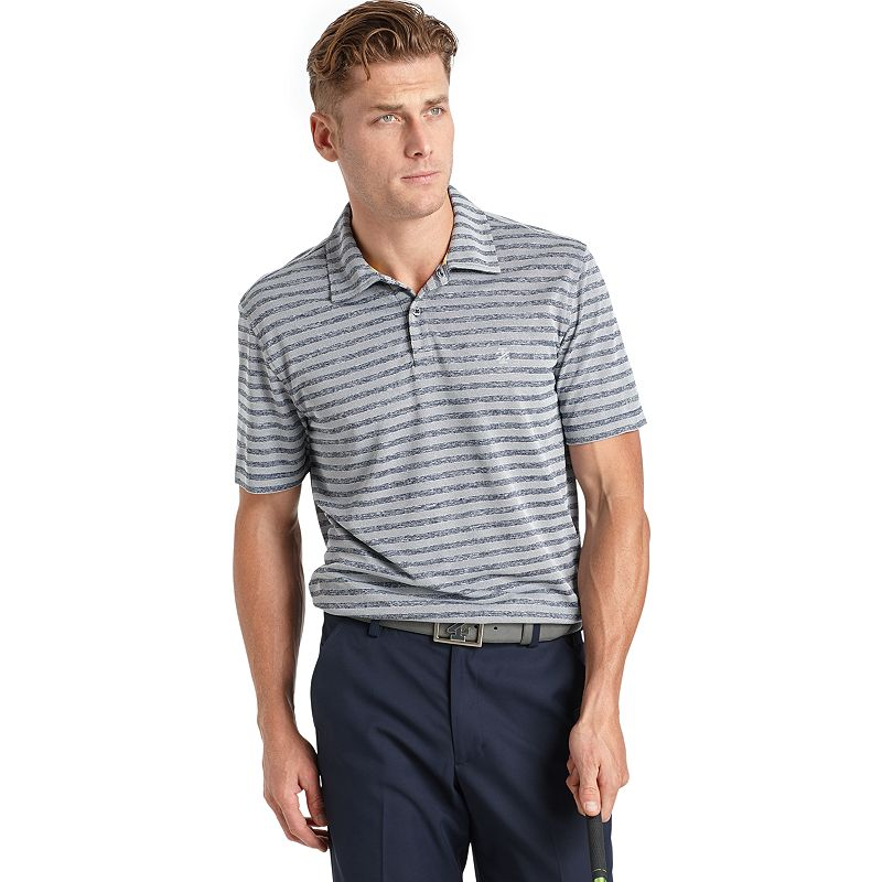 Men's IZOD Classic-Fit Striped Pique Heathered Performance Golf Polo