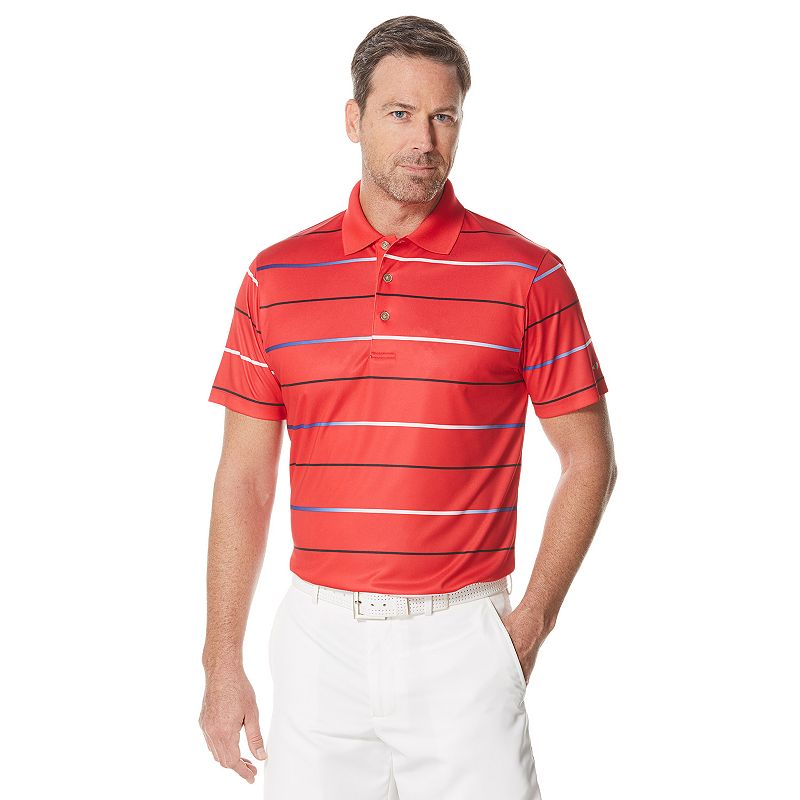Men's Grand Slam Athletic-Fit Gradiant-Stripeed Performance Golf Polo