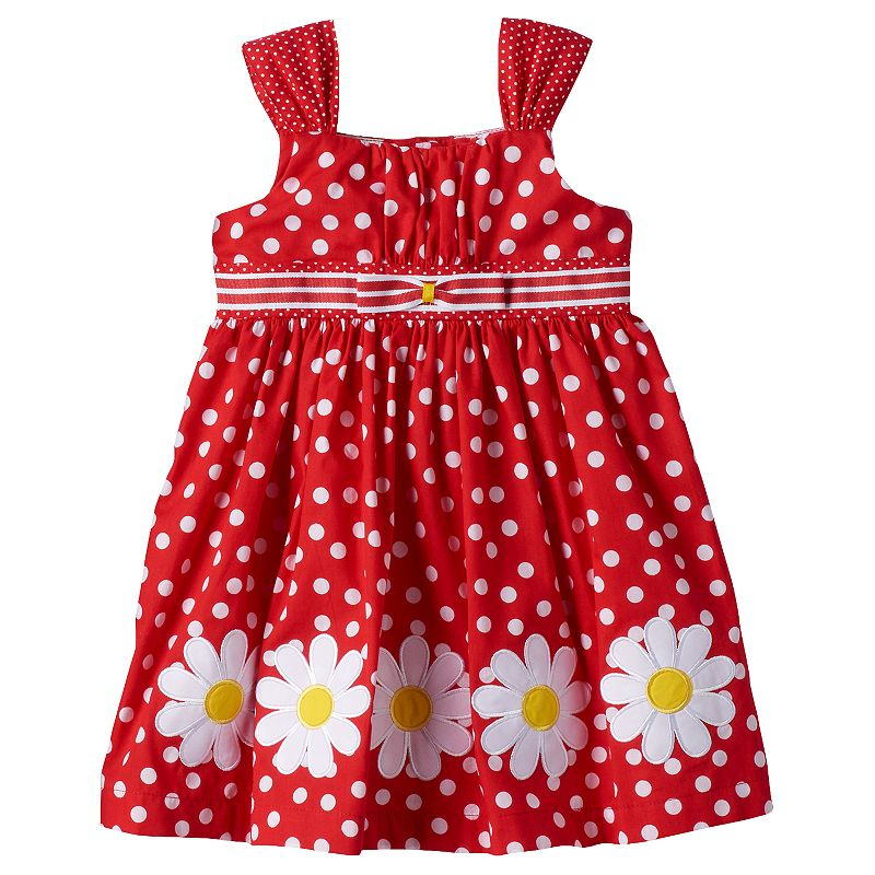 Baby Girl Blueberi Boulevard Polka-Dot Sundress