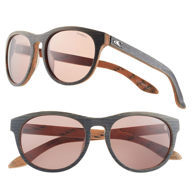 Women's O'Neill Wood Retro Round Sunglasses