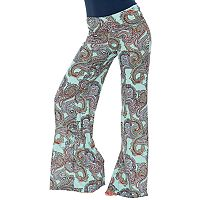 Women's White Mark Print Palazzo Pants