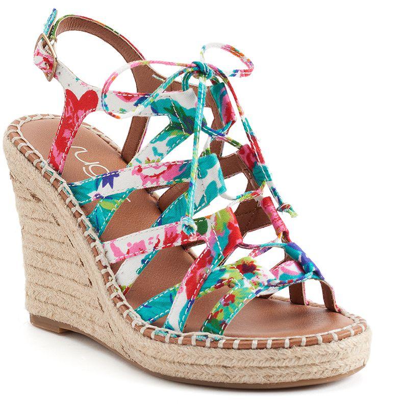 sugar Hunnies Women's Wedge Sandals