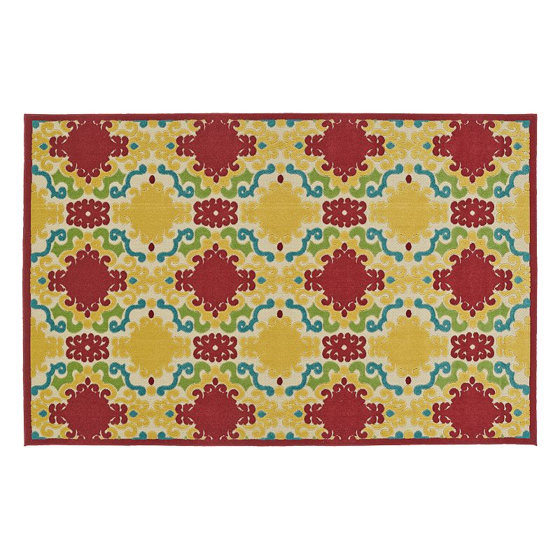 Kaleen Five Seasons Damask Indoor Outdoor Rug