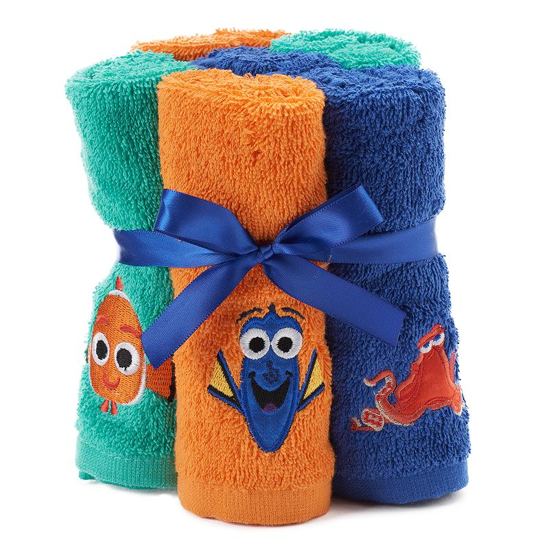 Disney / Pixar 6-pack Finding Dory Hank, Dory & Nemo Washcloths by Jumping Beans