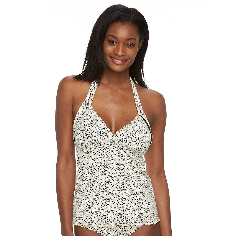 Women's Apt. 9® Crochet Halterkini Top