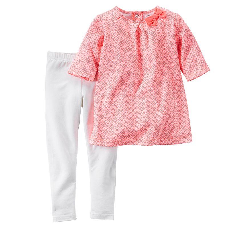 Baby Girl Carter's Geometric Top & Leggings Set