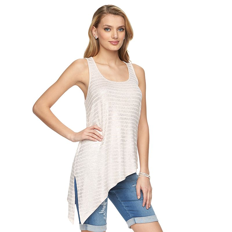 Women's Juicy Couture Striped Asymmetrical Tank