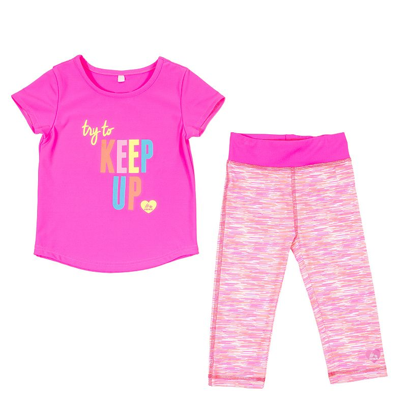 Toddler Girl RBX Keep Up Tee & Leggings Set