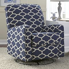 Sutton Quatrefoil Swivel Glider Recliner Chair  by