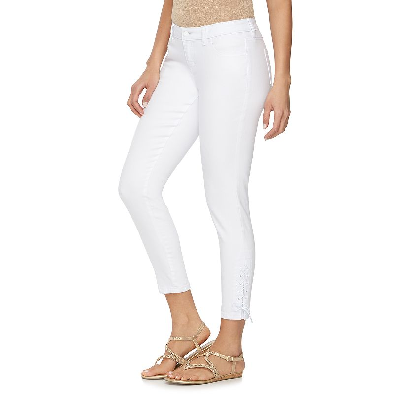 Women's Jennifer Lopez Lace-Up Skinny Jeans