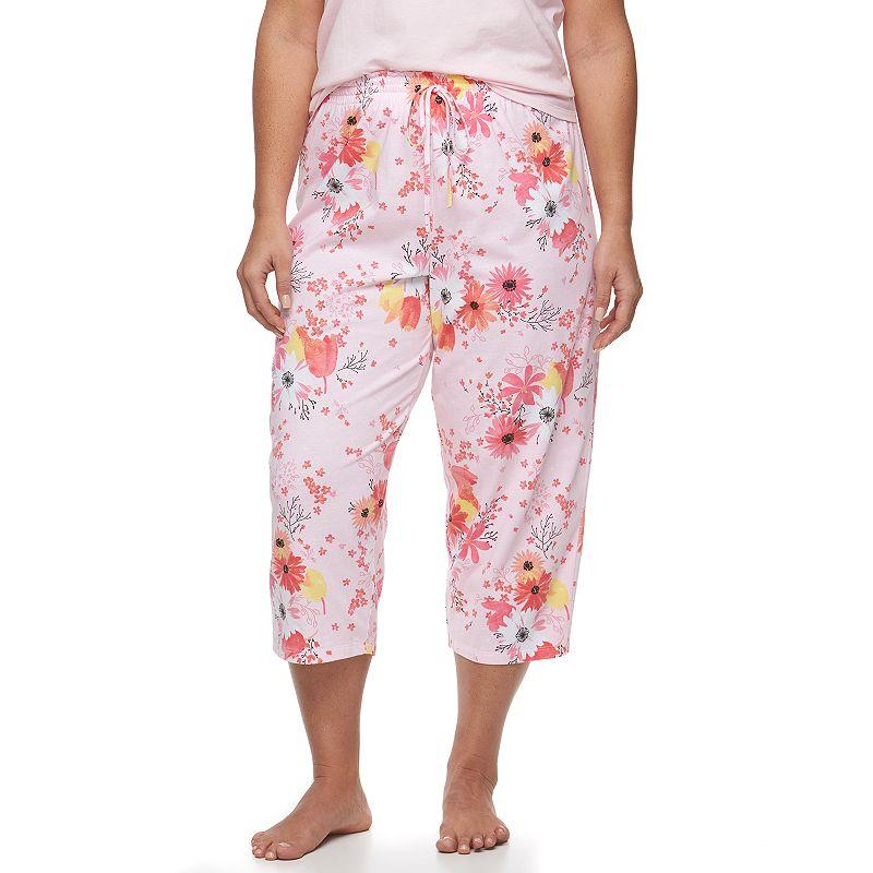 Plus Size Jockey Pajamas: Floral Sleep Capris