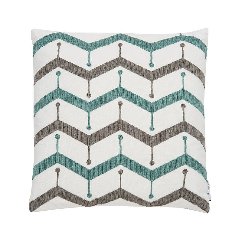 Levtex Skylar Embroidered Chevron Throw Pillow