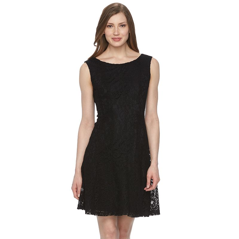 Women's Connected Apparel Lace A-Line Dress