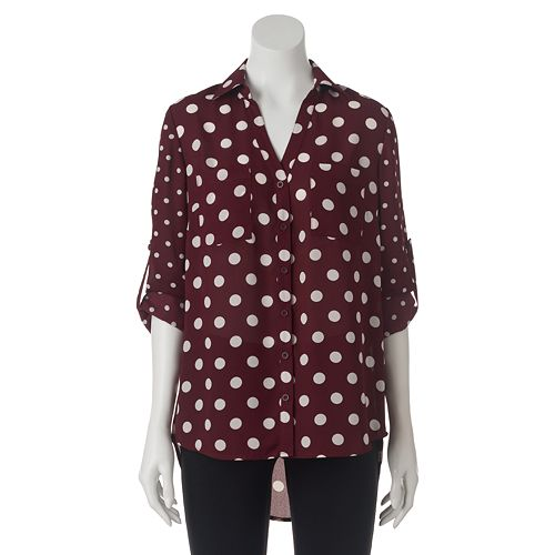 Juniors My Michelle Roll-Tab High-Low Top