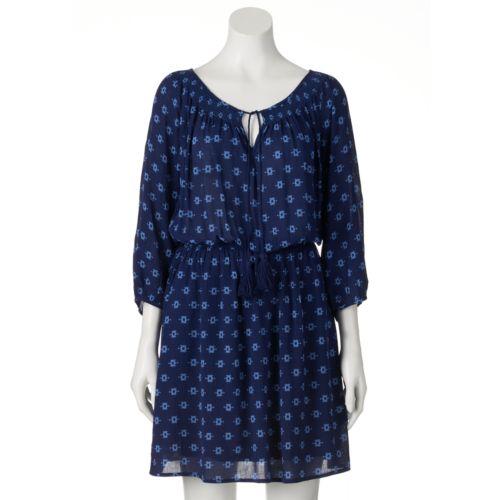 Women's Halo Print Peasant Dress