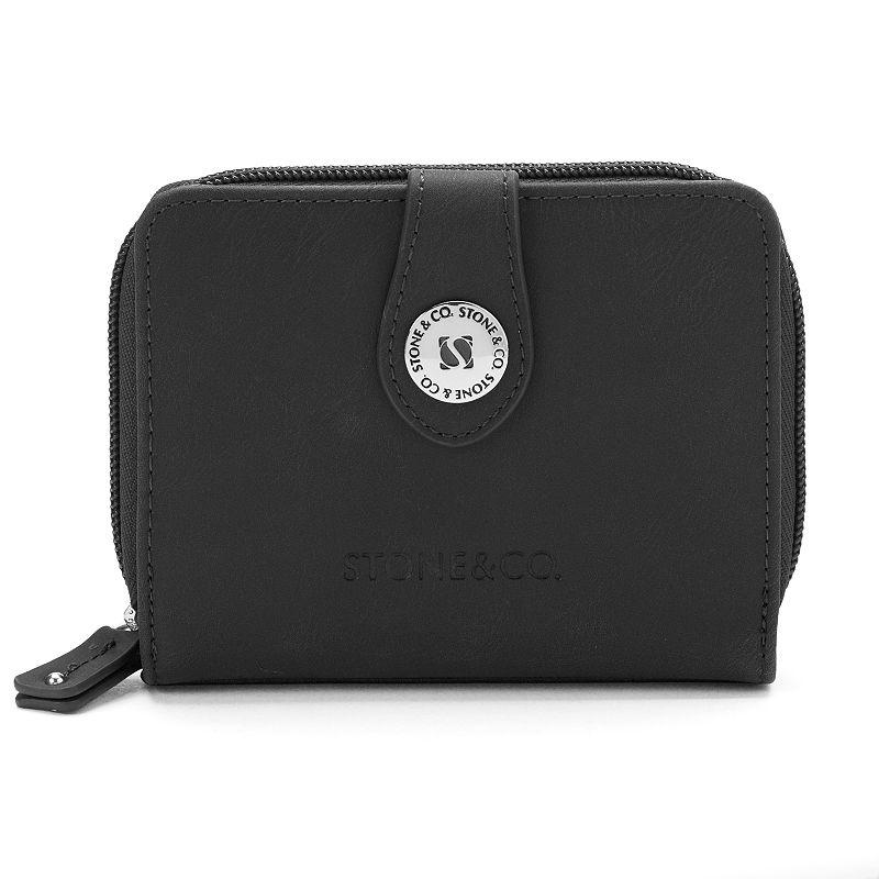 Stone & Co. Leather Multifunction Zip Around Wallet