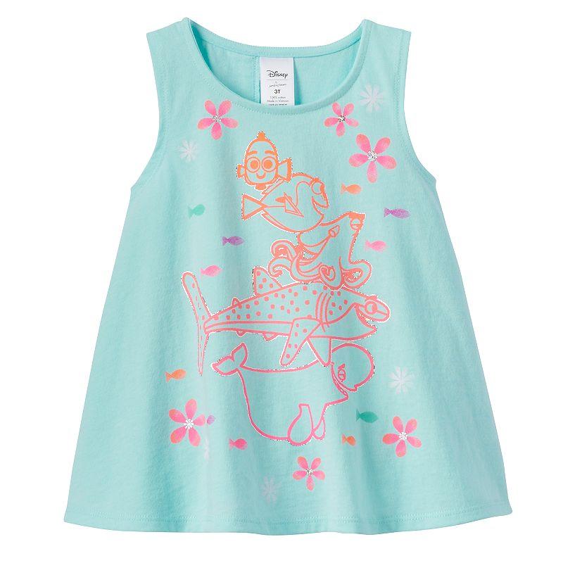 Disney / Pixar Finding Dory Toddler Girl Glitter Swing Tank by Jumping Beans®