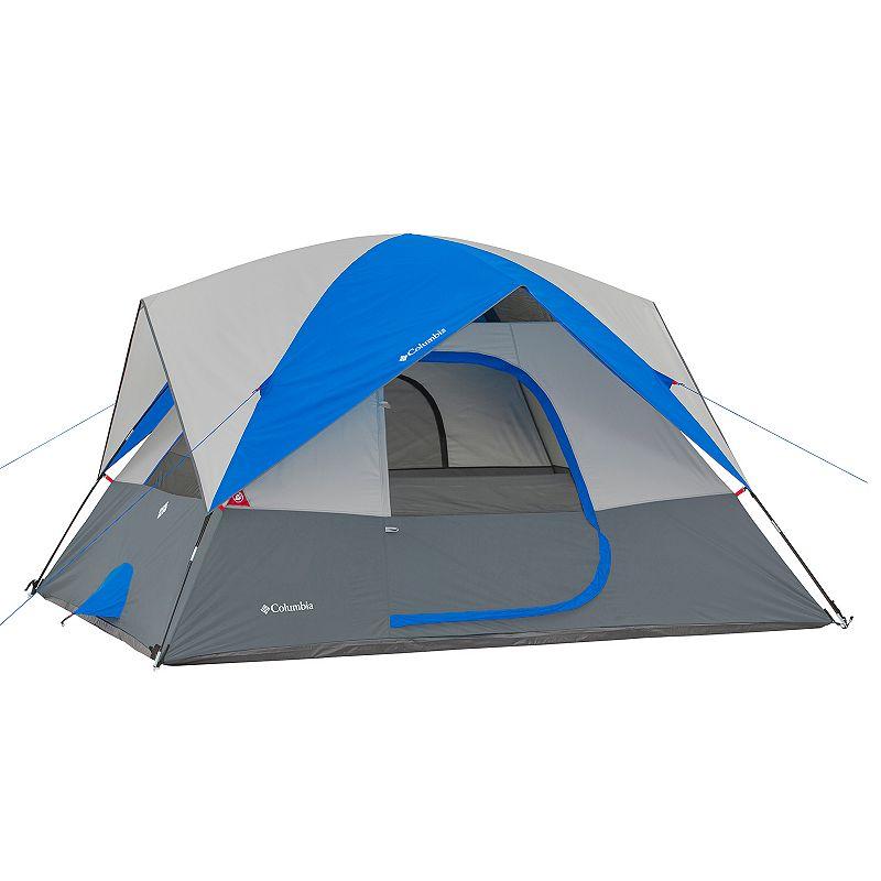 Columbia Ashland 6-Person Dome Tent, Gray Blue