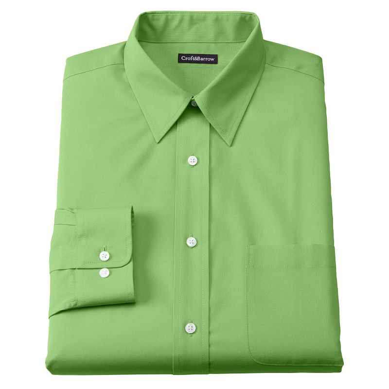 Croft & Barrow® Classic-Fit Solid Broadcloth Point Collar Dress Shirt