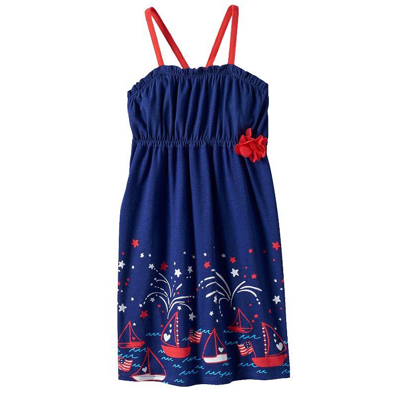 Girls 4-7 Jumping Beans® Patriotic Fireworks Racerback Dress