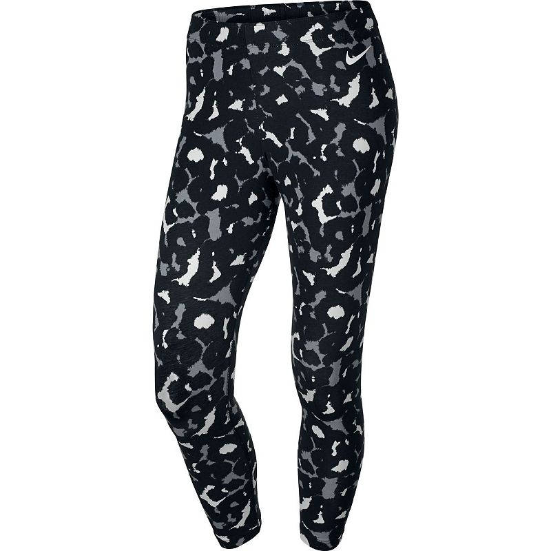 Nike Club Printed Cropped Workout Leggings - Women's
