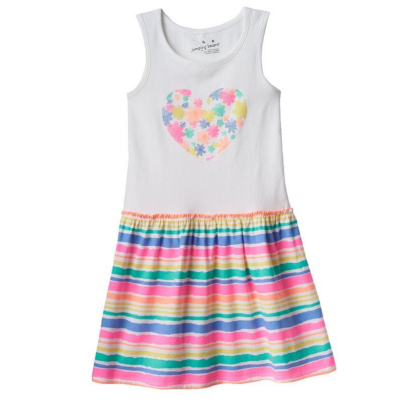 Girls 4-10 Jumping Beans® Striped Drop-Waist Dress