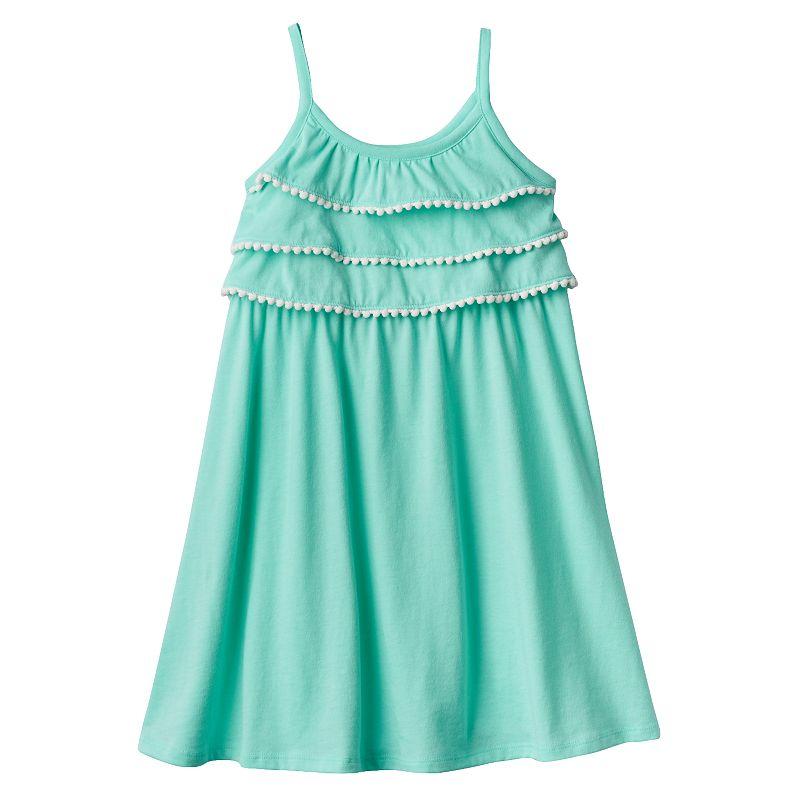 Girls 4-7 Jumping Beans® Tiered Pom-Pom Popover Dress