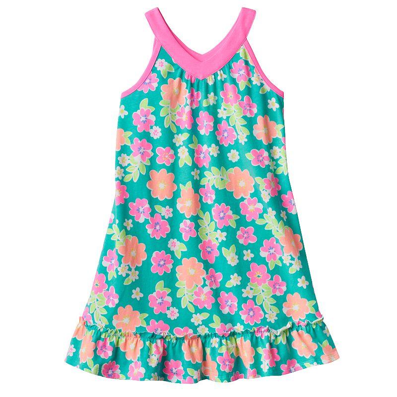 Girls 4-7 Jumping Beans® Printed Ruffle-Hem Dress