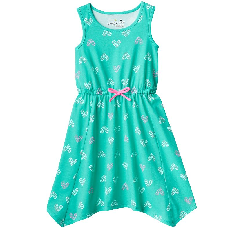 Girls 4-7 Jumping Beans® Printed Handkerchief-Hem Dress