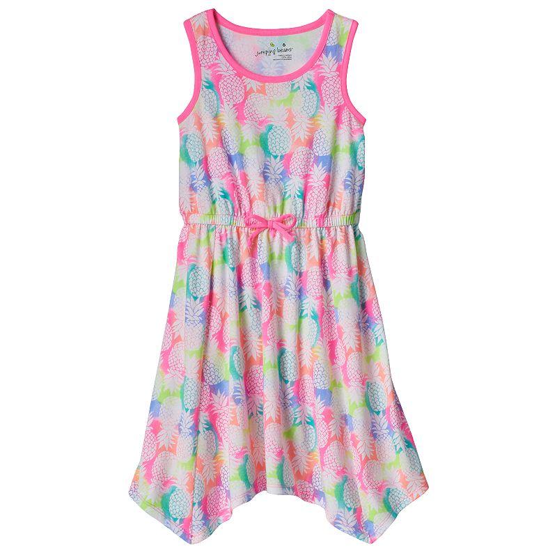 Girls 4-7 Jumping Beans® Printed Handkerchief-Hem Dress