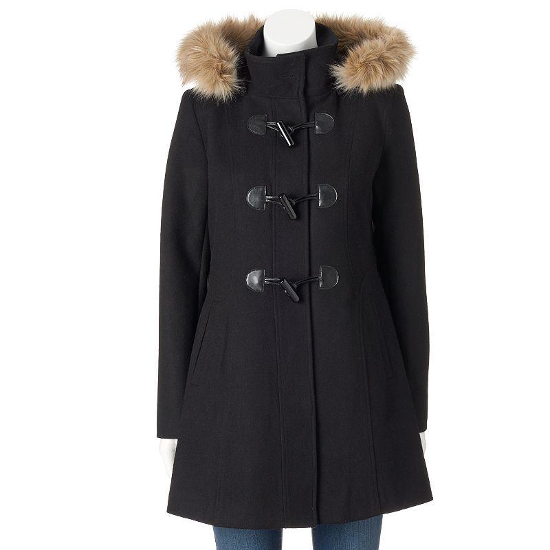 Women's Braetan Hooded Toggle Wool Blend Coat