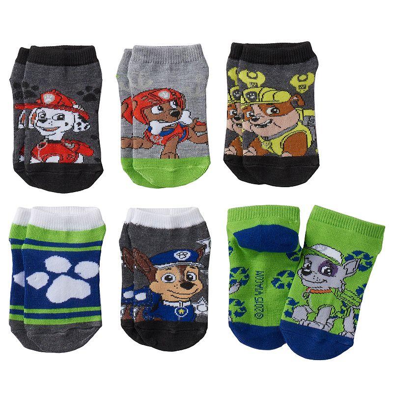 Boys 4-6 6-pack Paw Patrol Low-Cut Socks