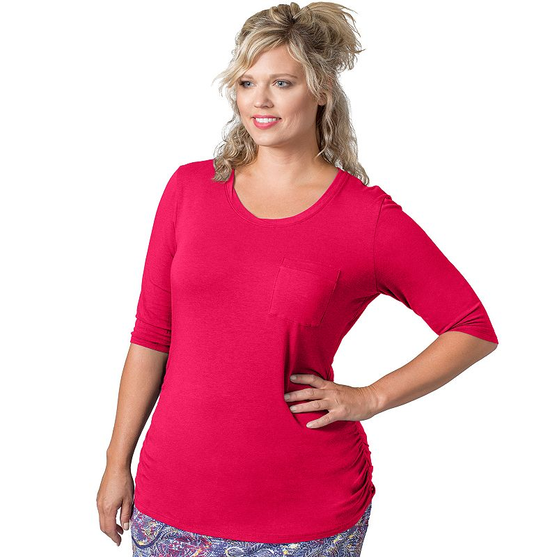Plus Size Soybu Violet Scoopneck Yoga Top