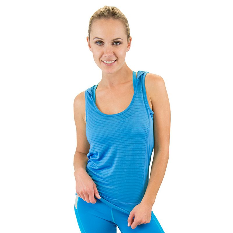 Women's Colosseum Sleeveless Drop Needle Sleeveless Yoga Hoodie
