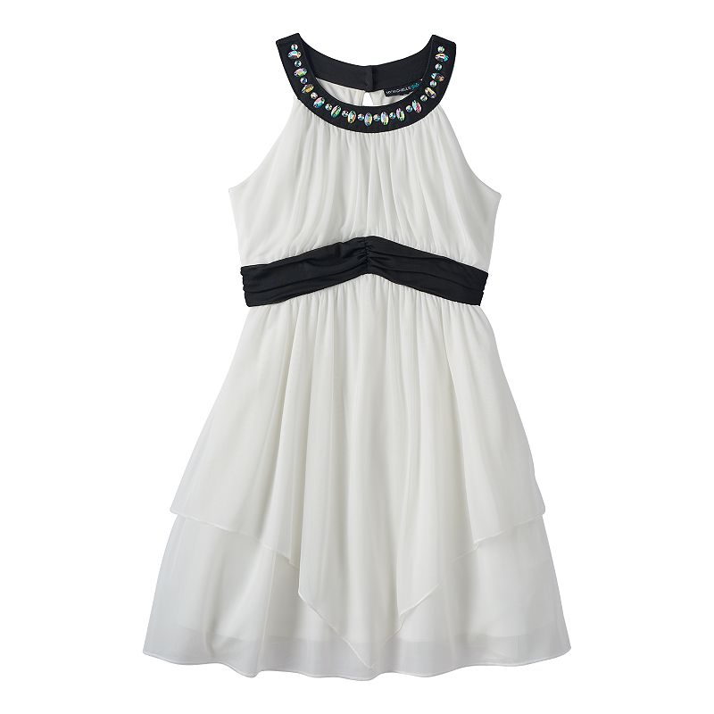Girls 7-16 My Michelle Studded Halter Dress