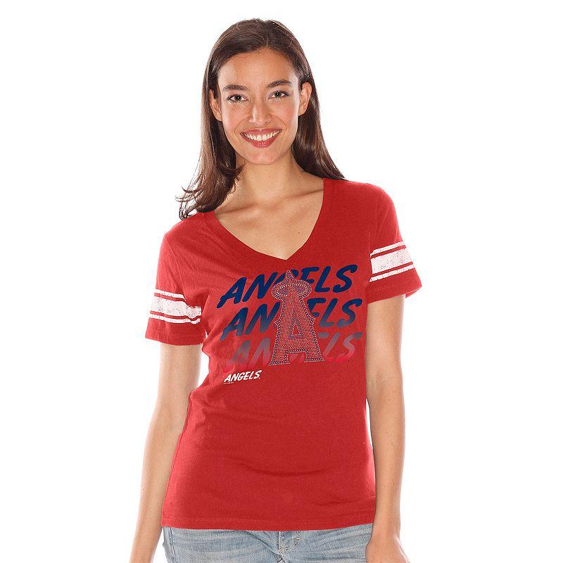Women's Los Angeles Angels of Anaheim Deep V-Neck Tee