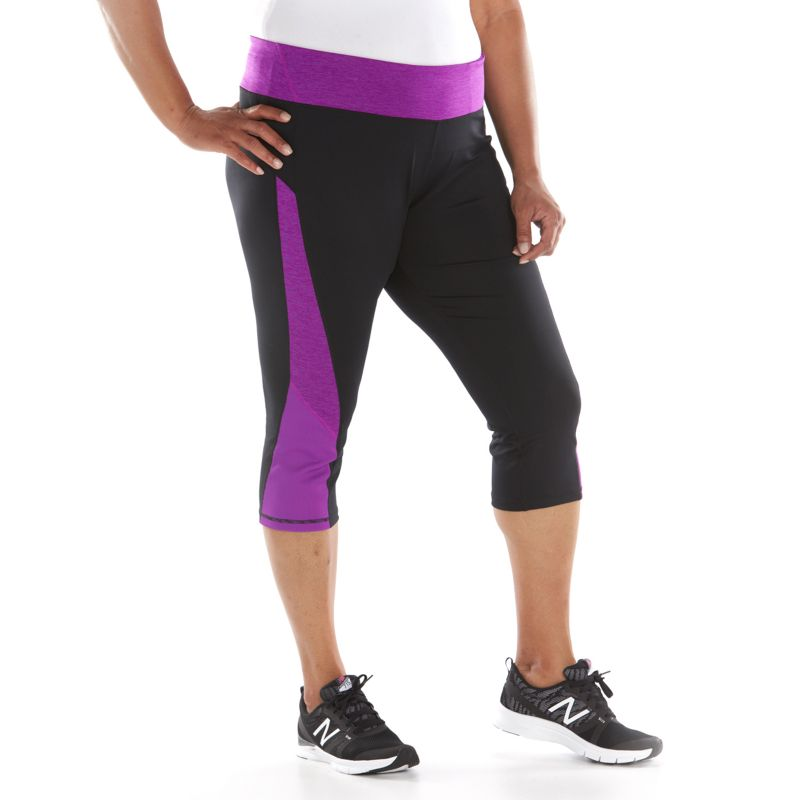 Plus Size Tek Gear Performance Capris, Women's, Size: 1X, Black