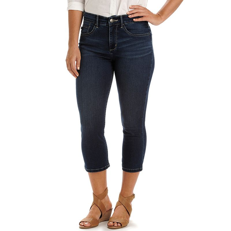 Petite Lee Frenchie Easy Fit Capri Jeans